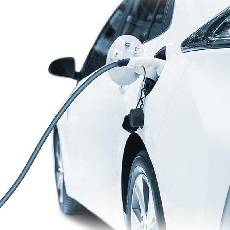 Representación visual de la gestión de la carga de un coche eléctrico gracias a la domótica